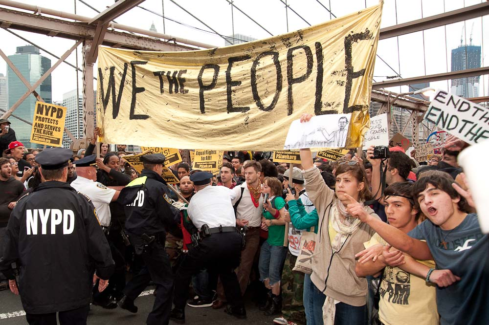 """""""Occupy Wall Street October 1st"""" - Photo by Adrian Kinloch"""